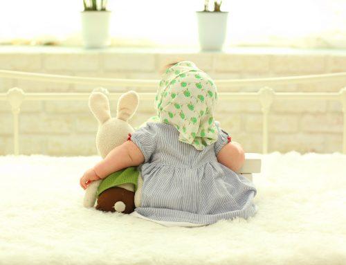 Preparando a malinha do bebé